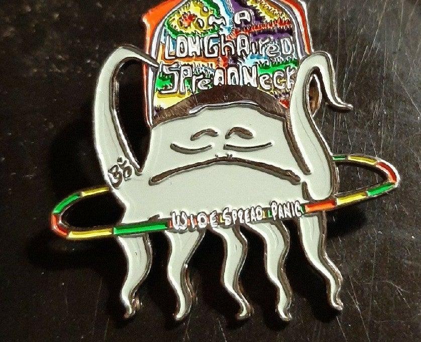 Wide spread panic & squidbillies hat pin