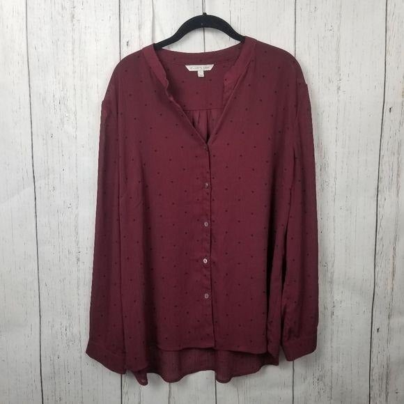 41 Hawthorne Button Up Blouse size XL