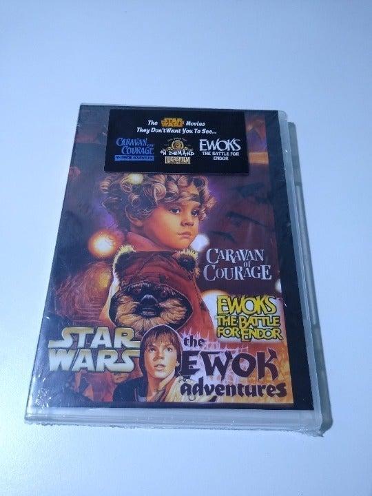 Star Wars Ewok Adventures DVD, Caravan of Courage & Battle for Endor, Unopened!