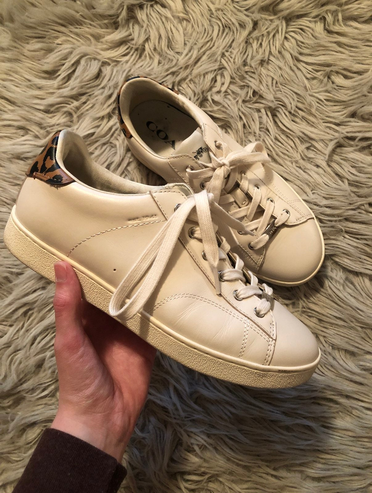 Coach Leather Sneakers !!