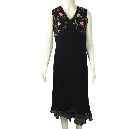 RETRO APRIL CORNELL Embroidered Dress