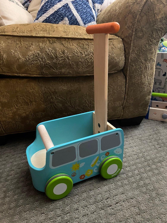 Plan toys van walker push toy