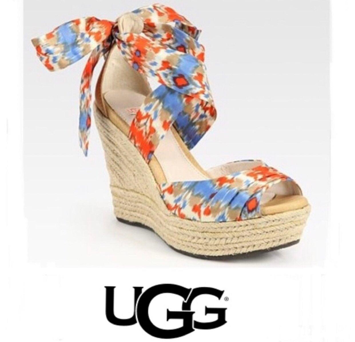 UGG Lucianna Espadrilles Wedge Sandal 10