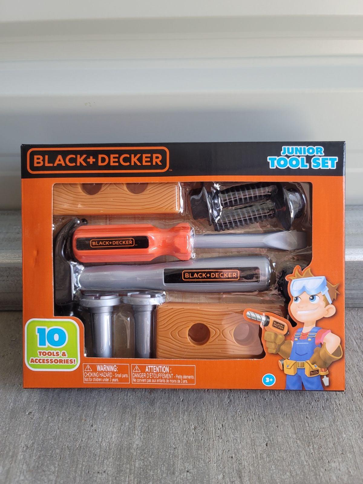 Black & Decker Junior Tool Set 10pcs