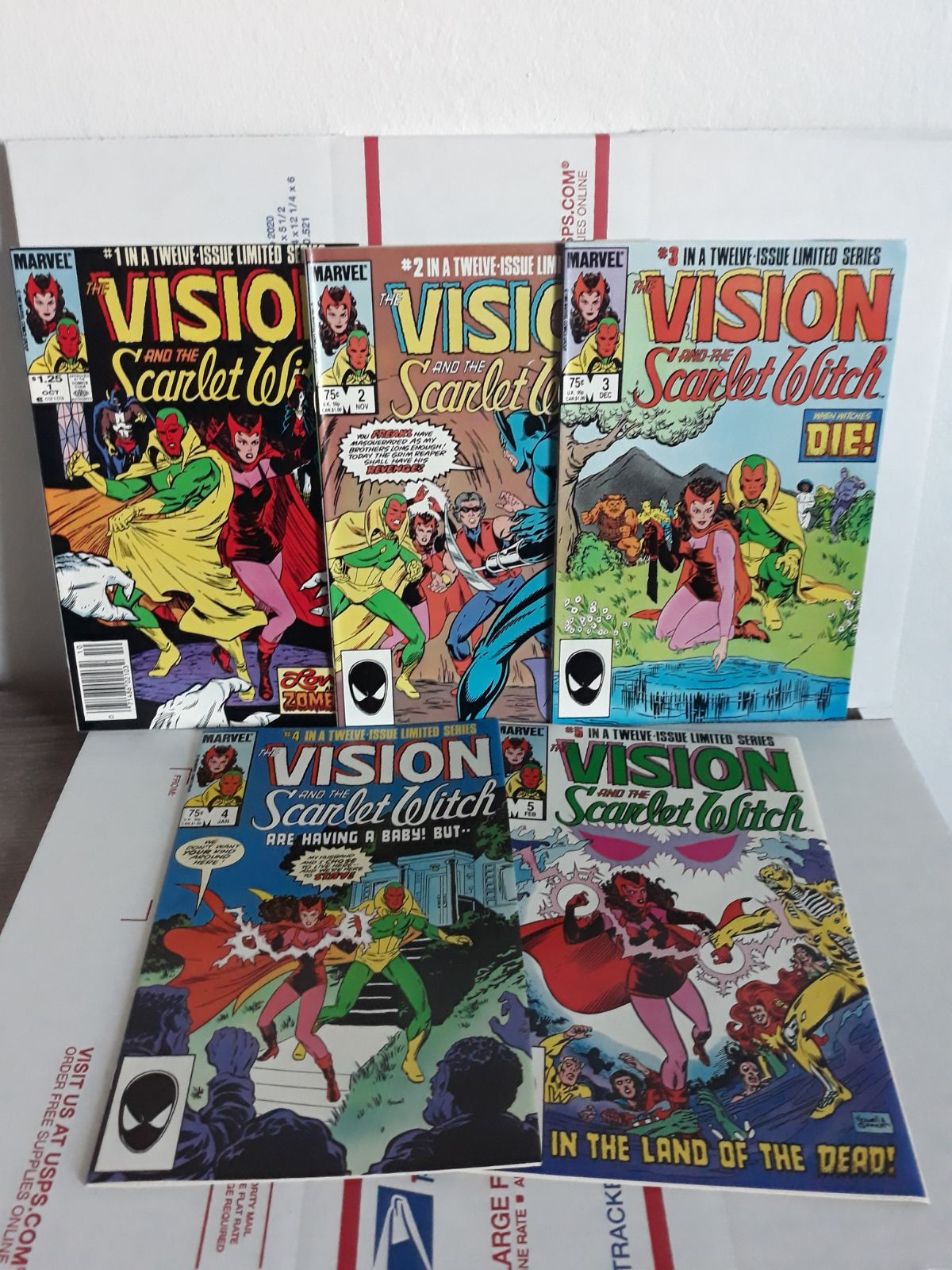 Vision & Scarlet Witch #1-5 comics Lot
