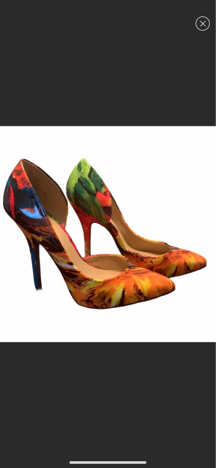 NWOT Just Fab Dina Multicolored Heels