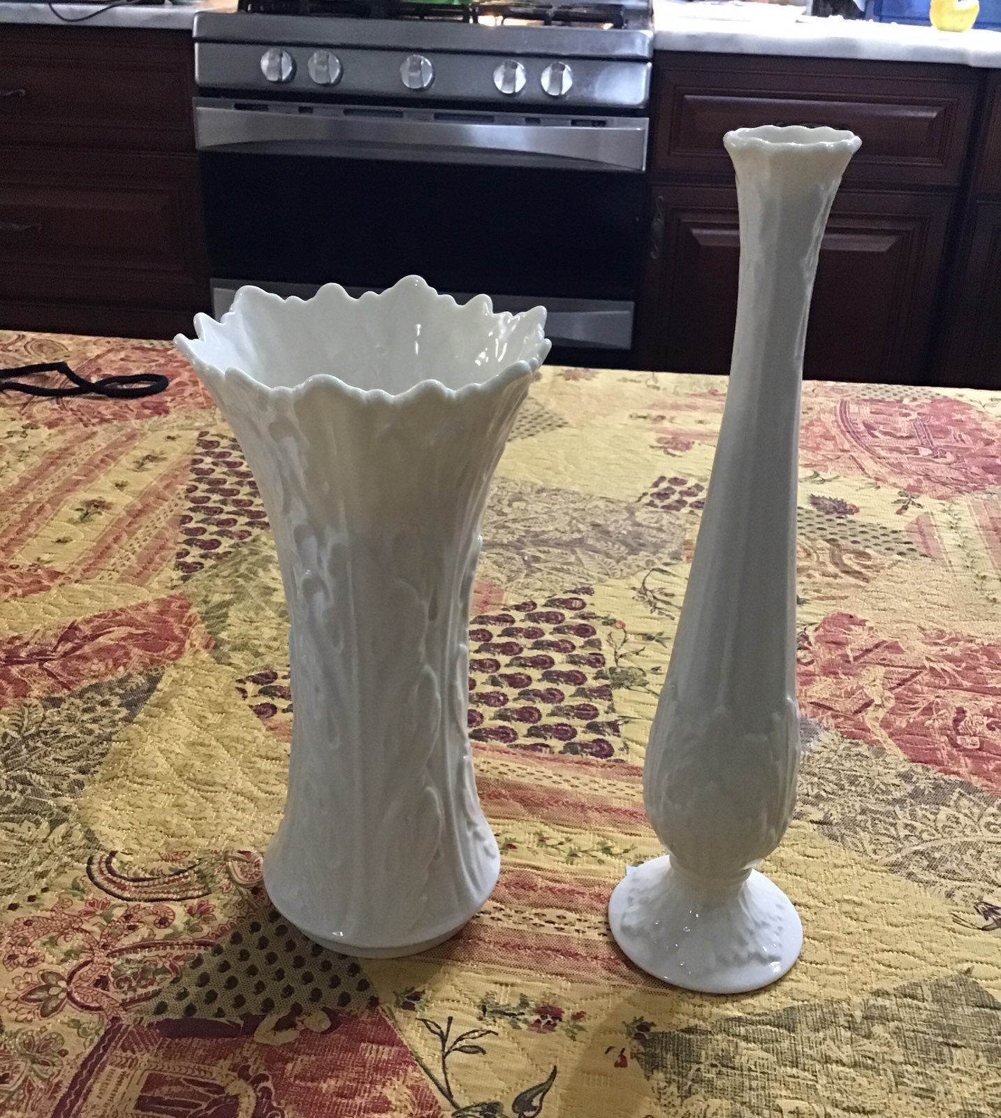 Lenox Woodland Porcelain Vase Set Of 2