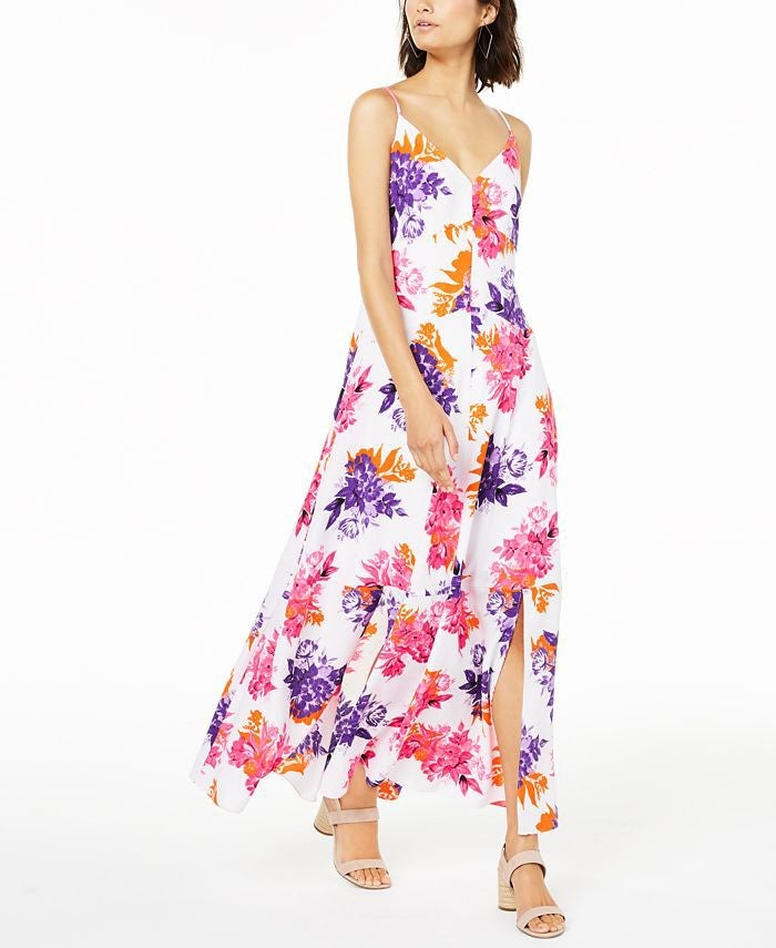 NWT Bar III Floral Print Maxi Sun Dress