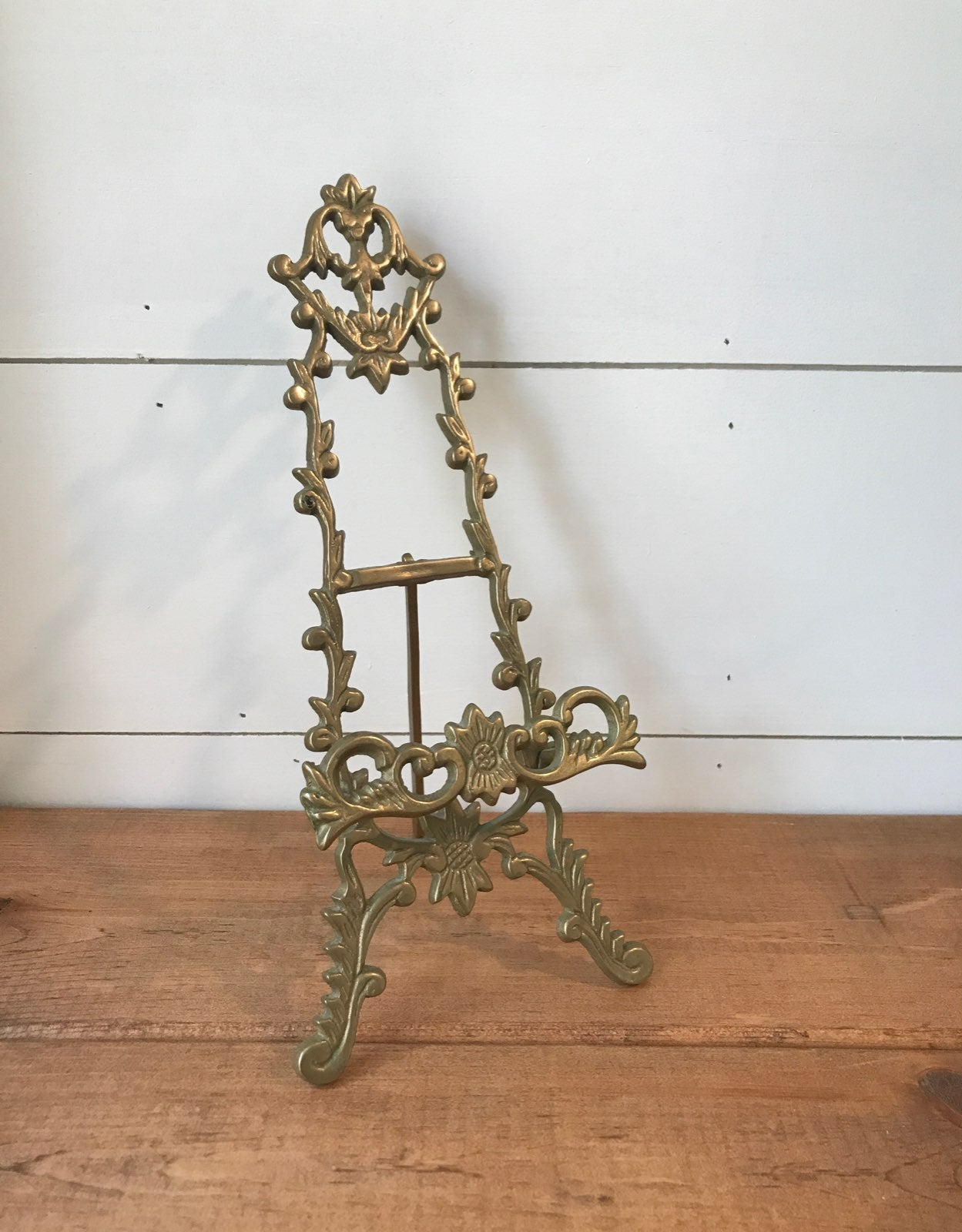 Brass plate stand easel