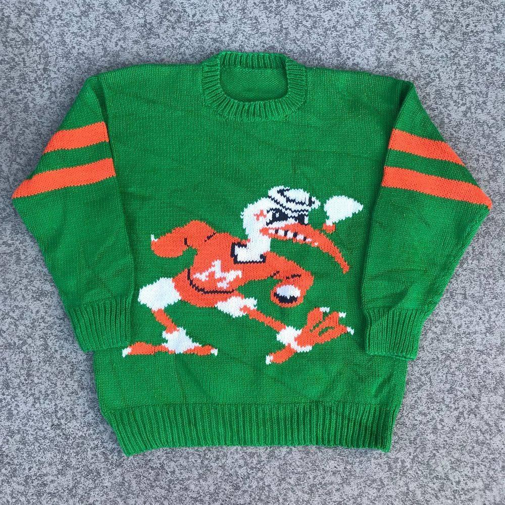 Miami Hurricanes Vintage Knit Sweater