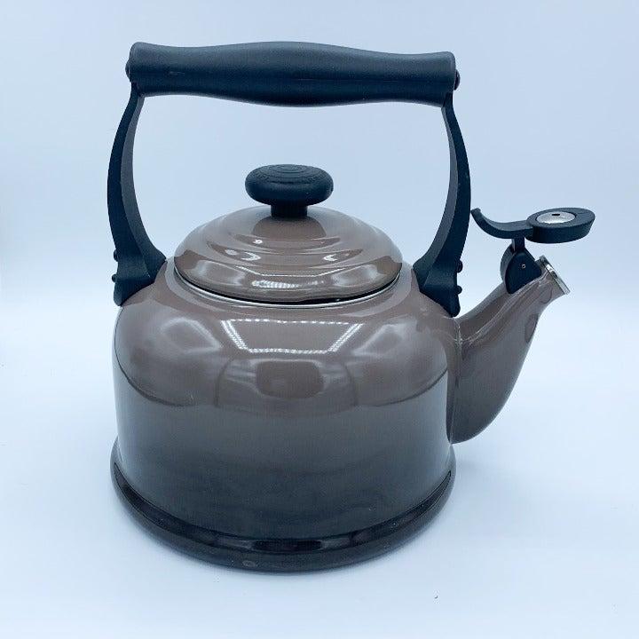Le Creuset Brown Enamel Tea Kettle 2.2 QT