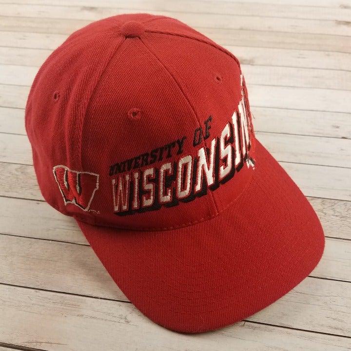 VTG 90s Wisconsin Badgers Snapback Hat