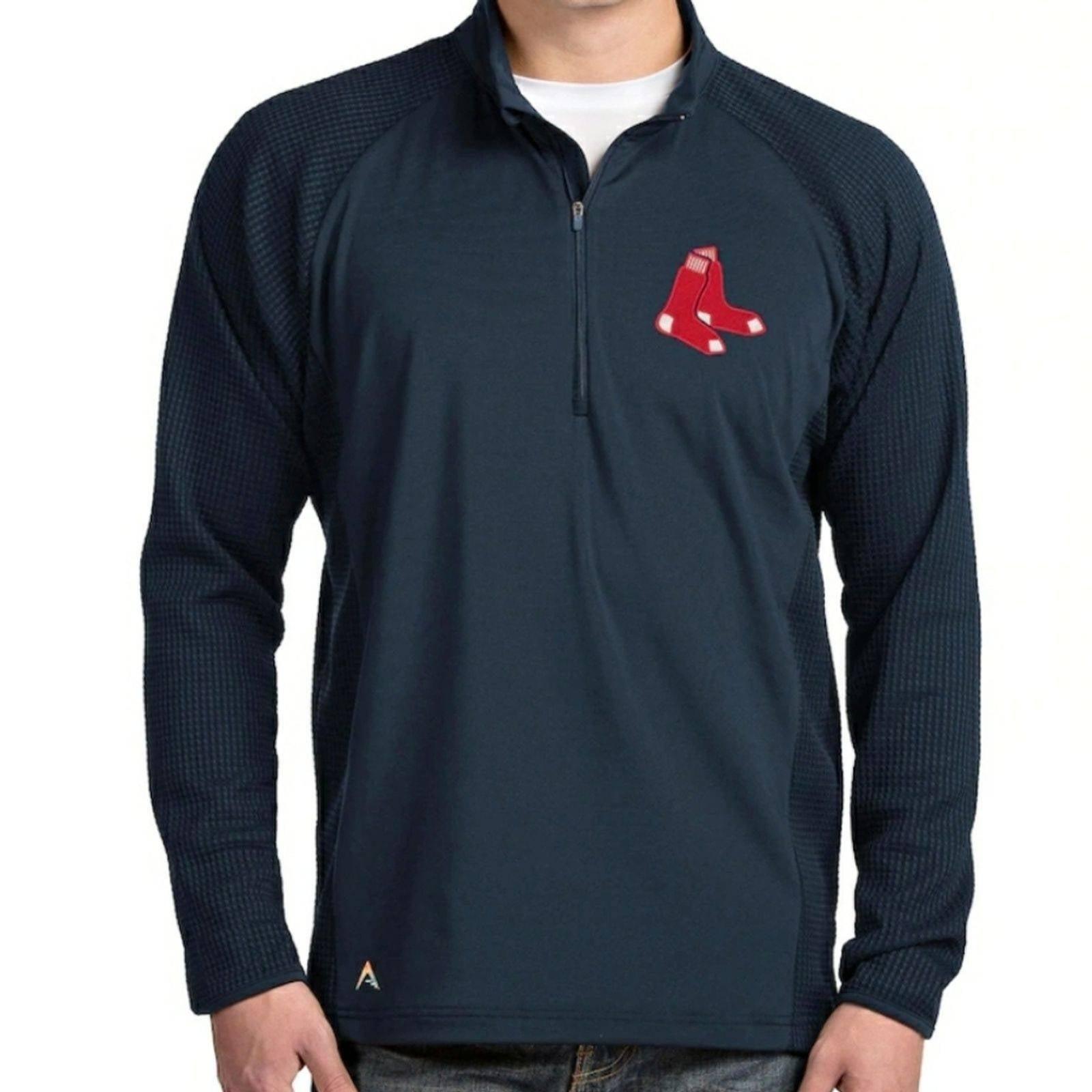Antigua New MLB Navy Red Sox 1/4 Zip