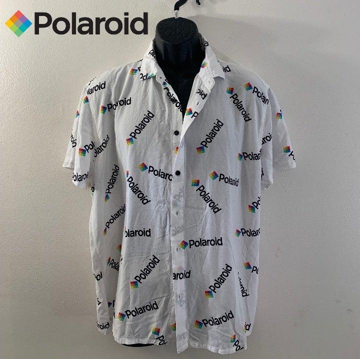 Polaroid Short Sleeve Shirt XL Rayon