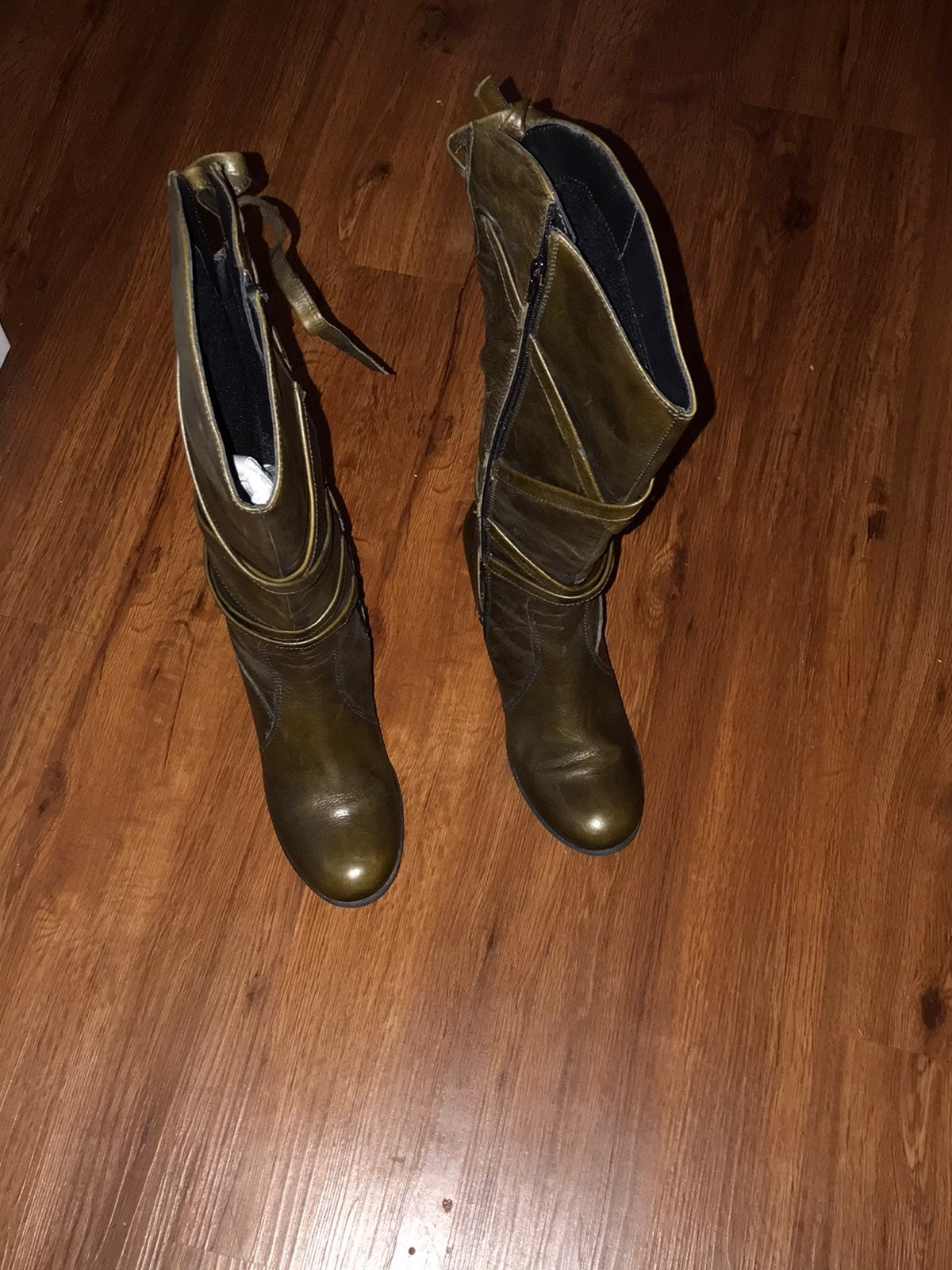 Olive Green Heeled BX boots by Bronx 8M