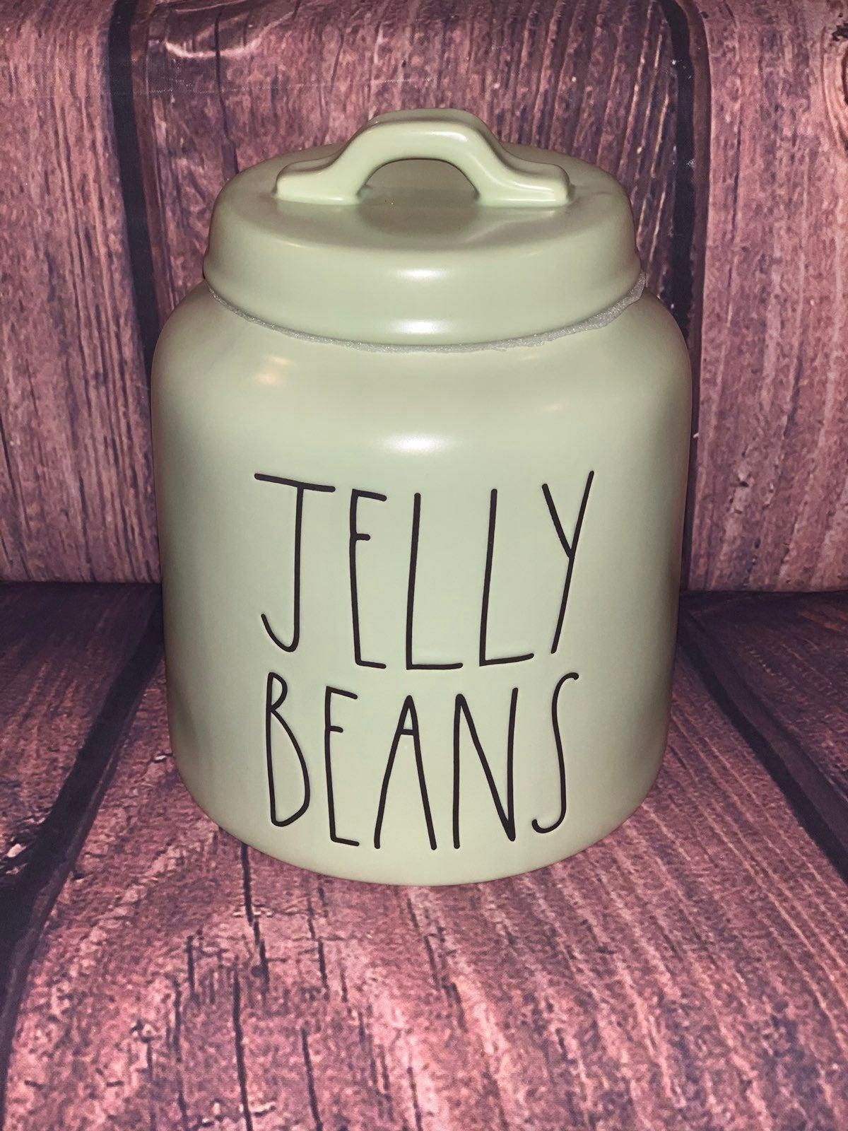 Rae Dunn Green Jelly Beans Canister