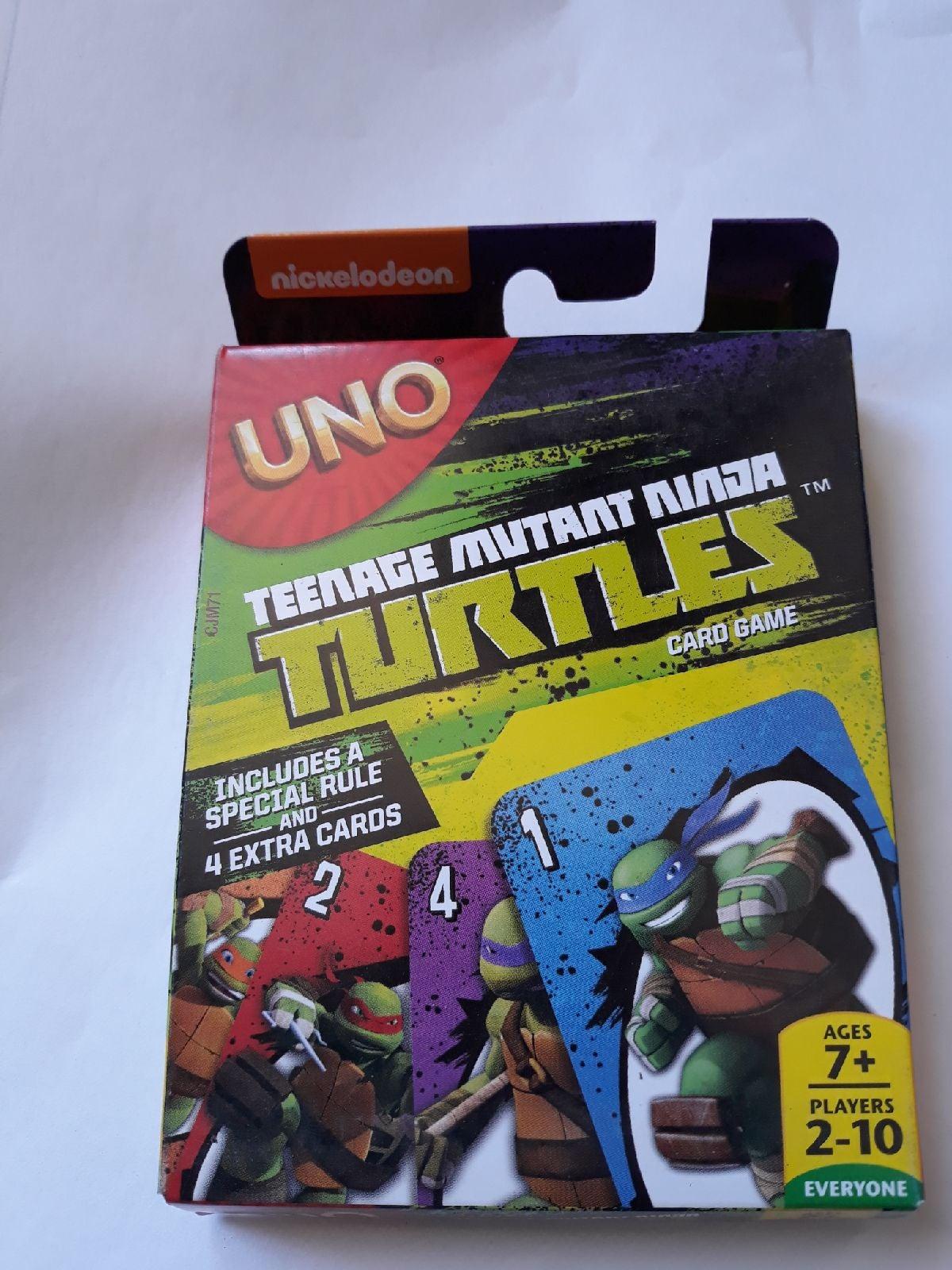 Nickelodeon uno cards mutant turtles