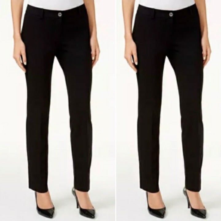 NWT MICHAEL KORS Black Straight Pants 10