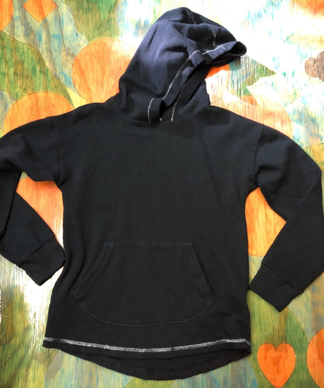 Black hoodie girls size 7/8 SO Authentic