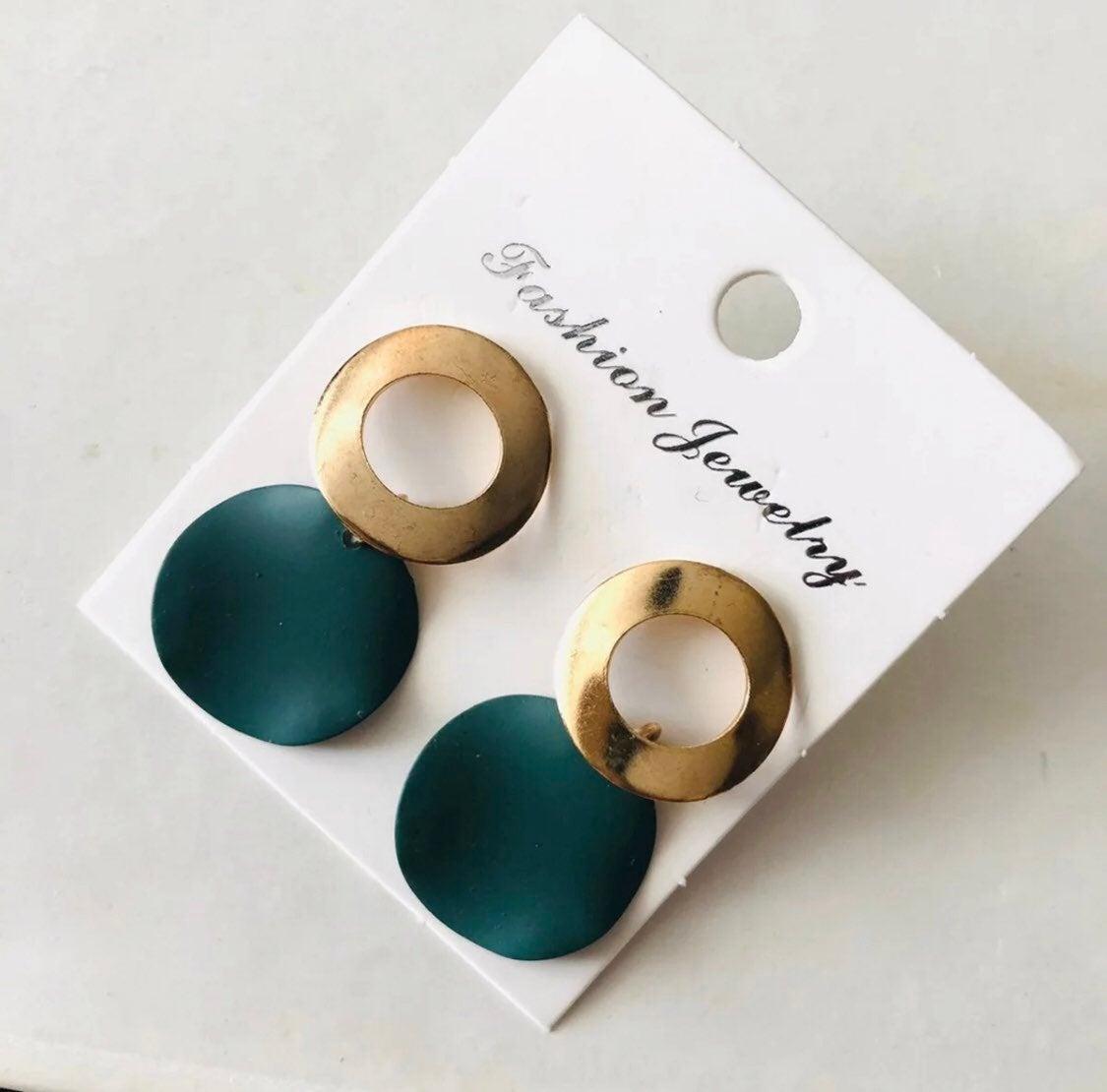 Boho boutique pierced earrings - new