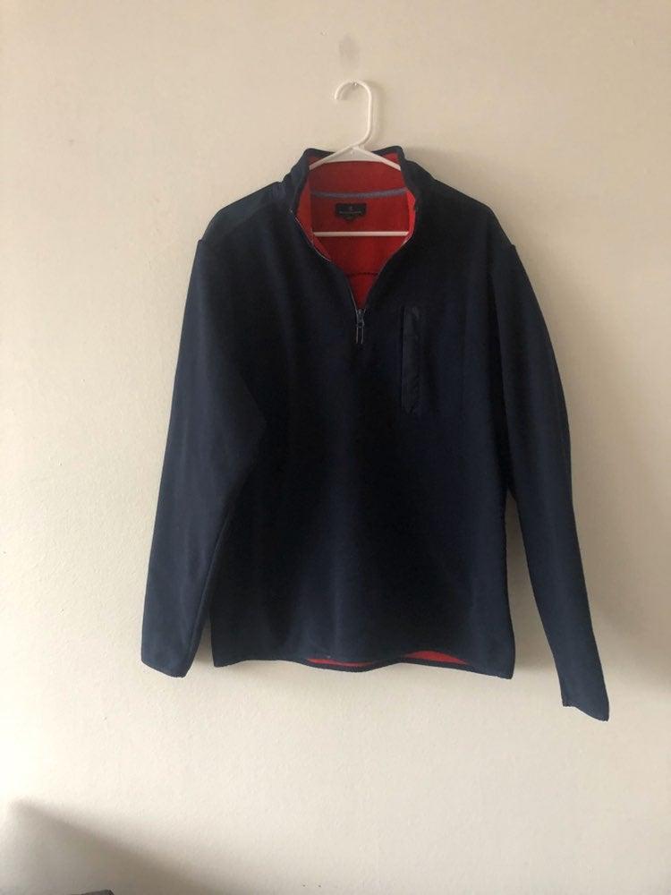 Brooks Brothers Navy fleece pullover