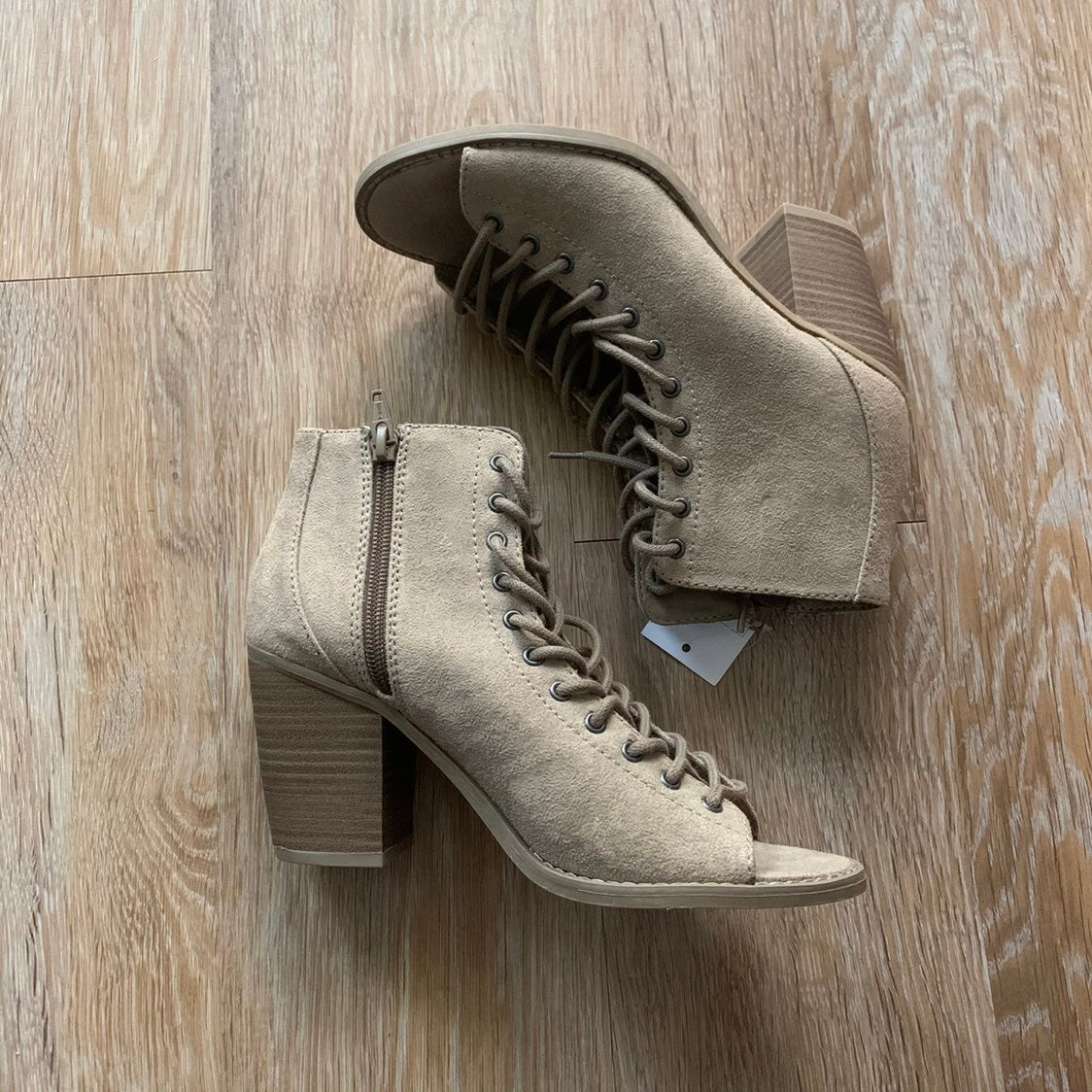 Mossimo Lace-up Booties NWT