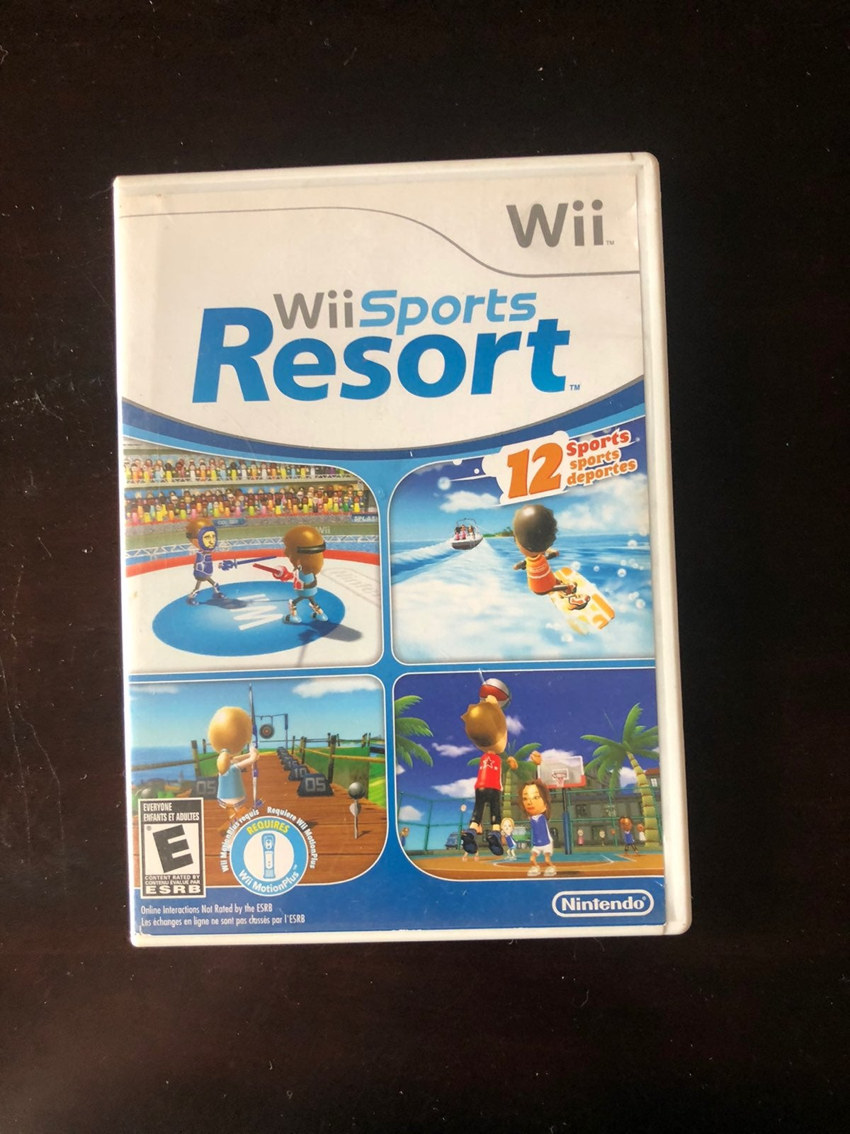 Wii sports resort case and books only