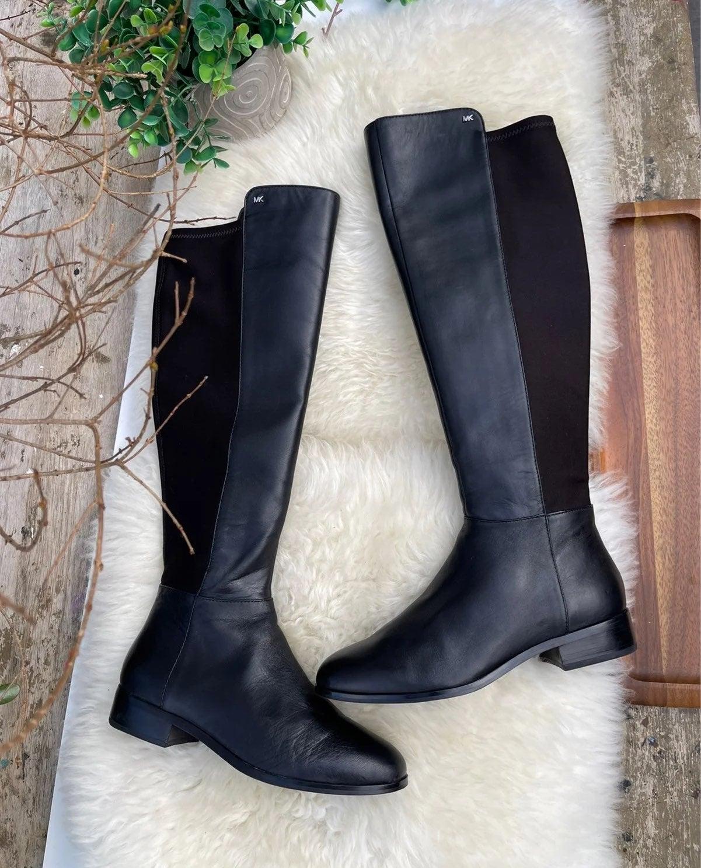 Michael Kors knee high black leather boo