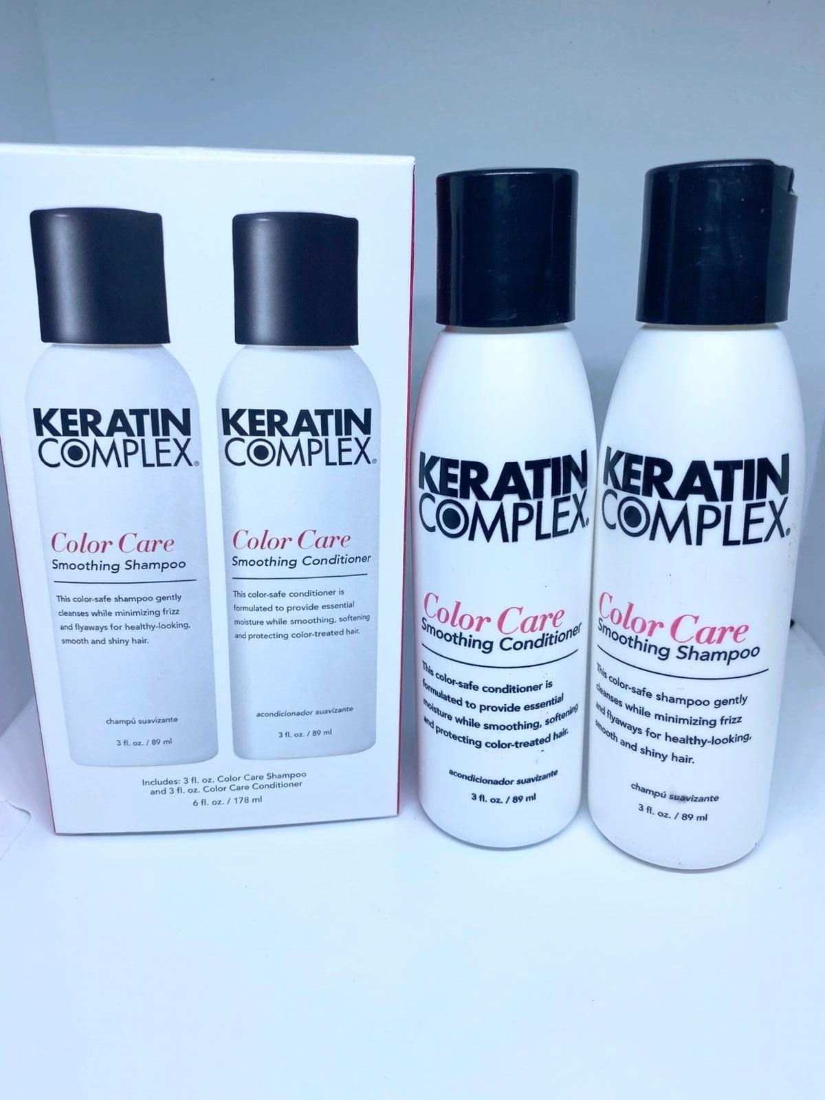 Keratin shampoo and conditioner