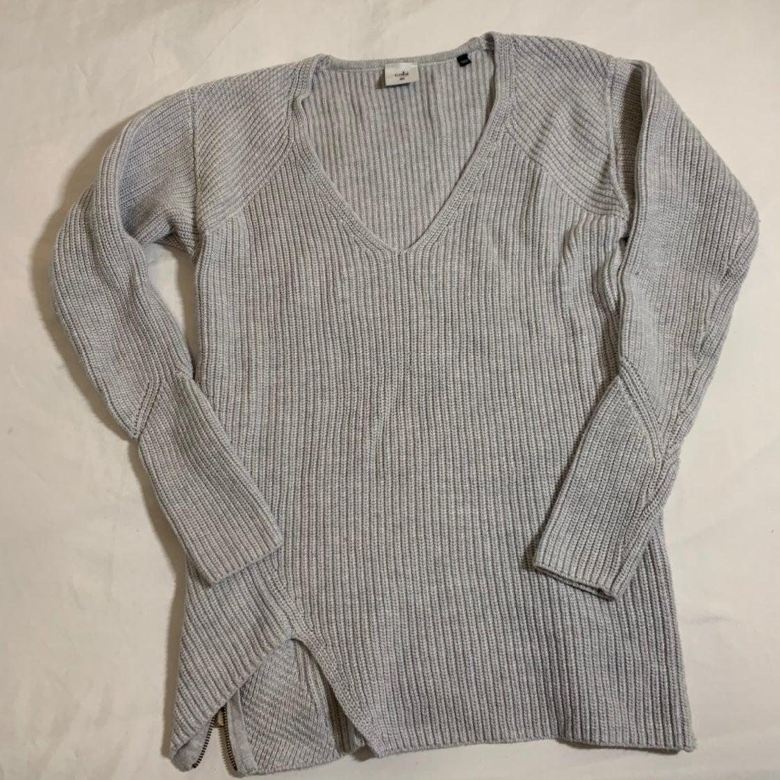 V Neck Grey Cabi Sweater