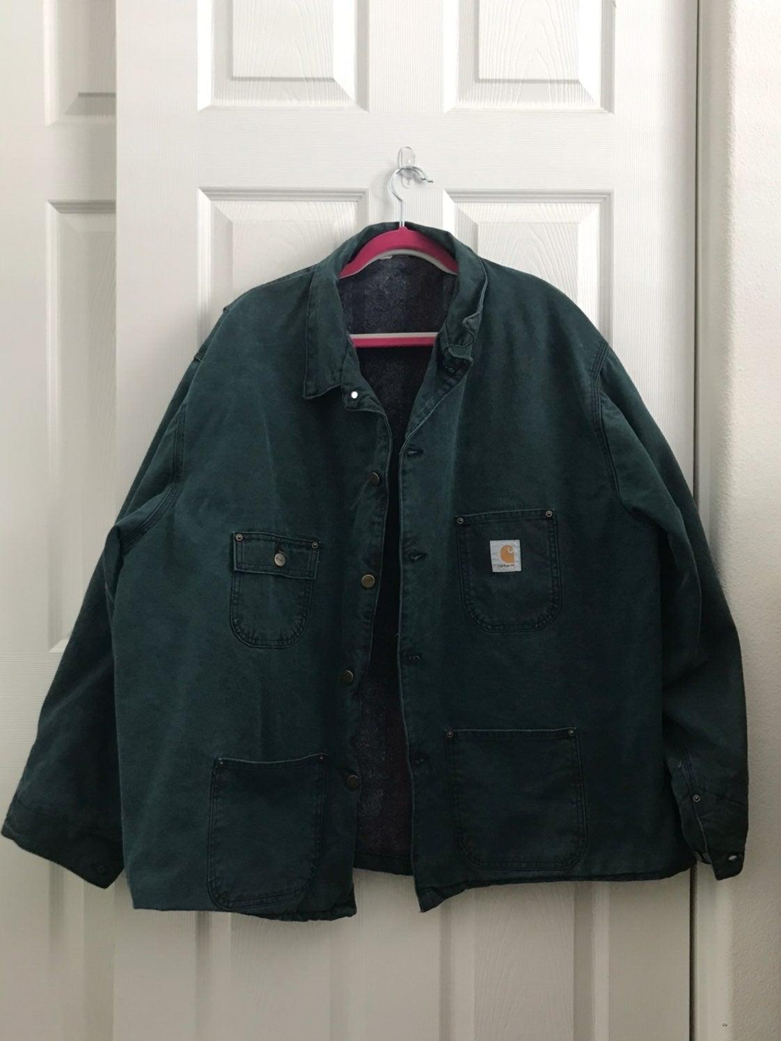 Carhatt Green Denim Jacket