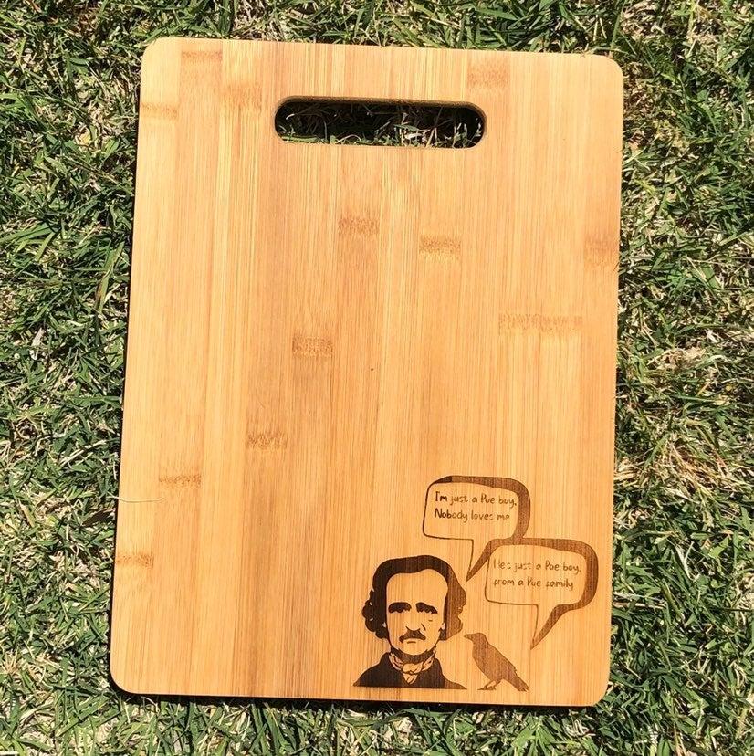 Poe pun cutting board