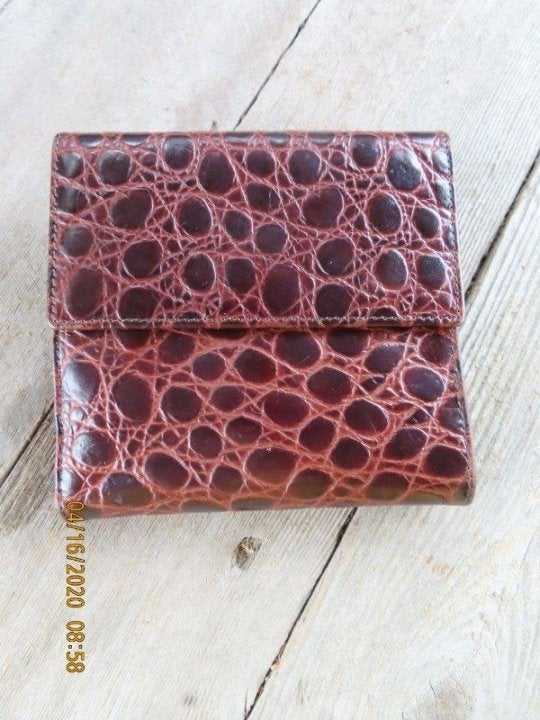 Brooks brothers brown leather wallet
