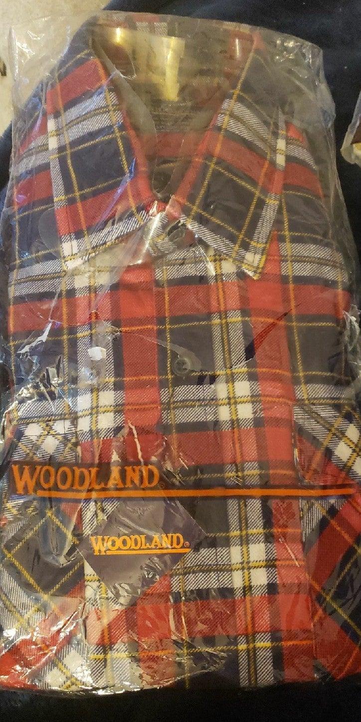 Vintage Woodland NIB collared shirt M