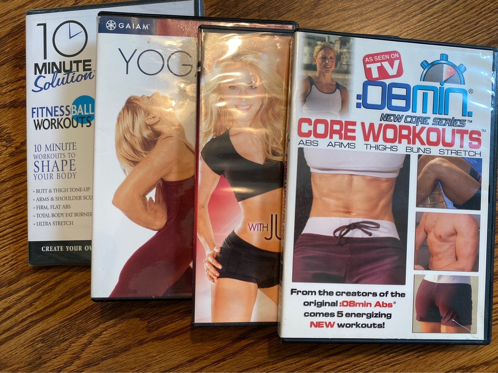 Set of 4 Fitness Workout DVDs