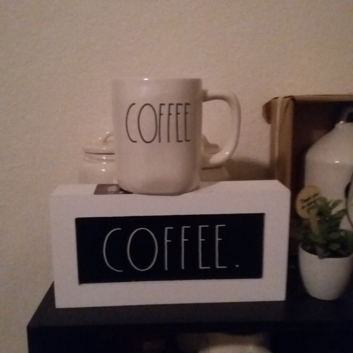 Rae Dunn Coffee Sign and  20 ounce Mug