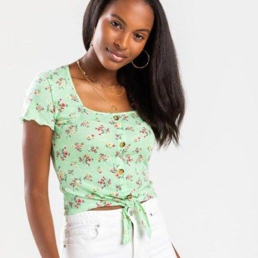 Francesca's | NWT Maya Tie Front Top