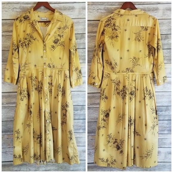 Samantha Sung Floral Midi Shirt Dress