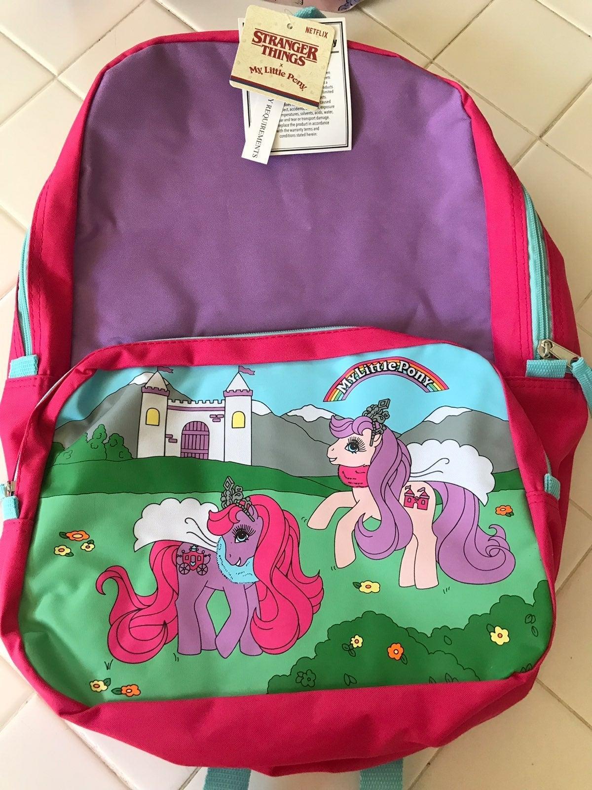 Stranger Things  My Little Pony Backpack