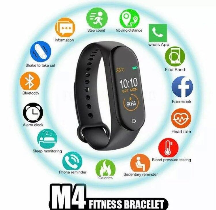 New M4 fitness Smart Watch Band Heart r