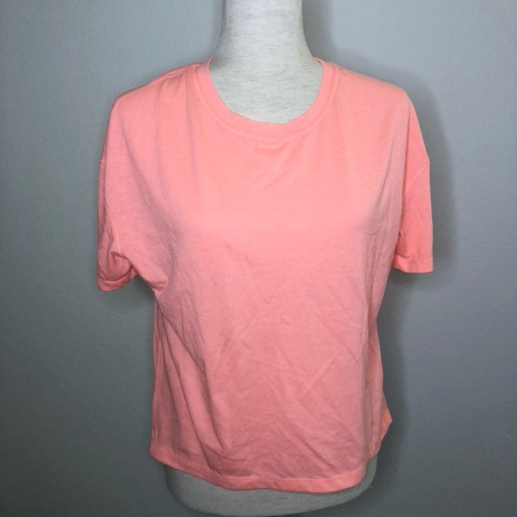 MTA Sport Pink Striped Short Sleeve Tee