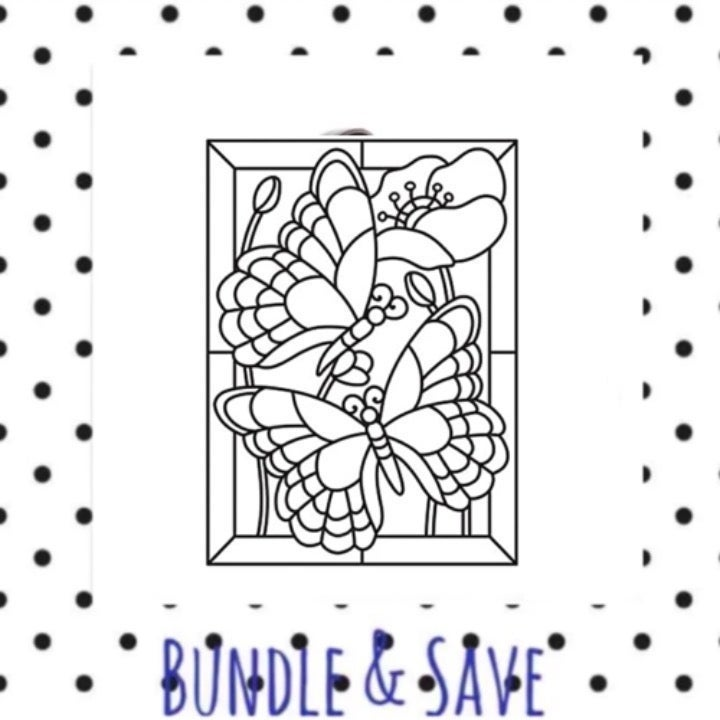 Darice embossing Mosaic Butterfly
