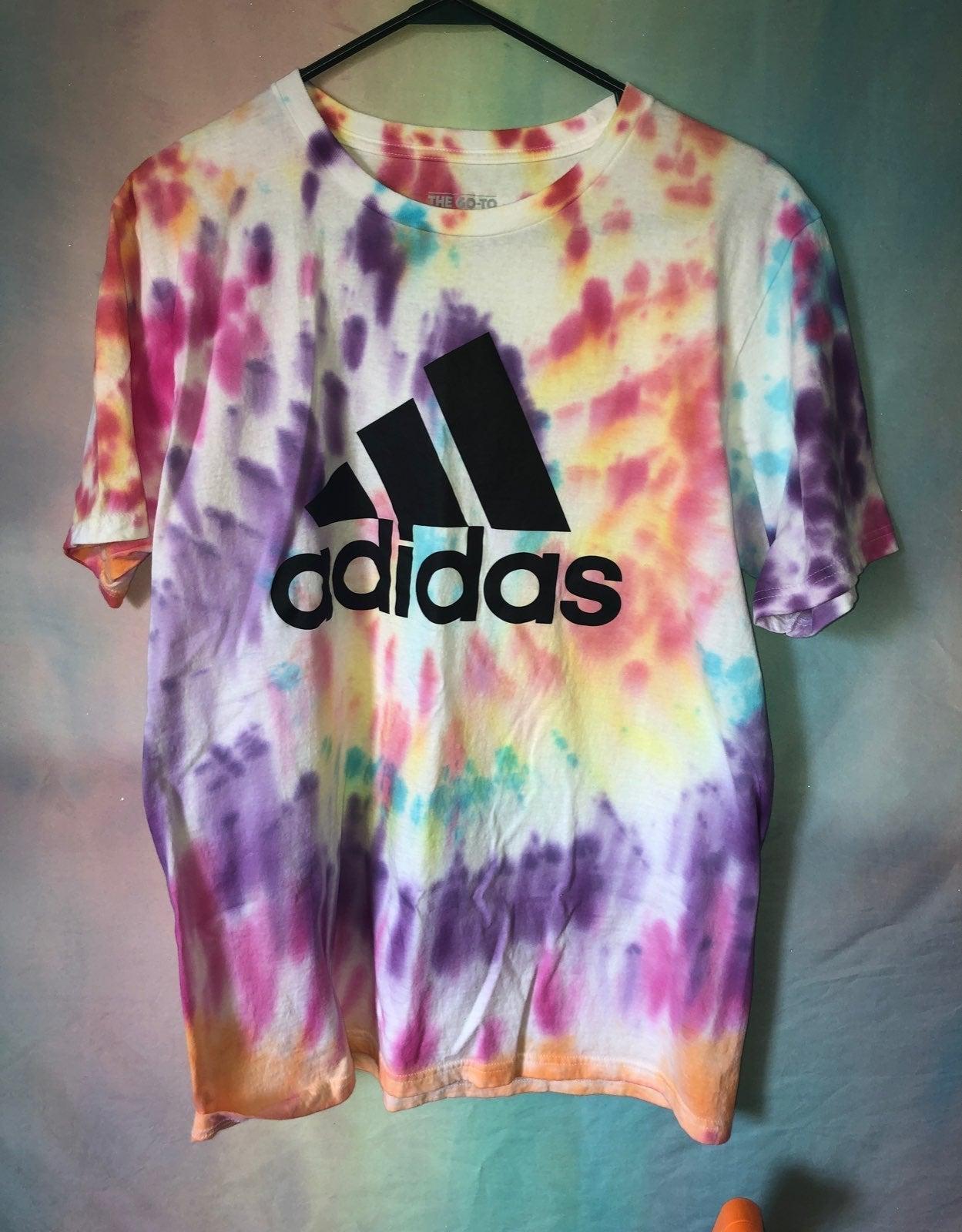Adidas tie dye shirt