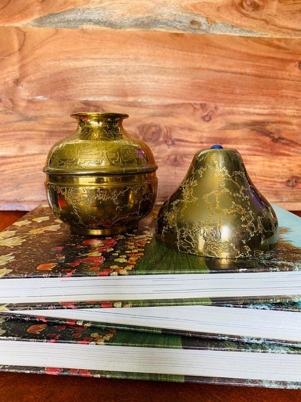 Vintage Nesting Brass Spittoon