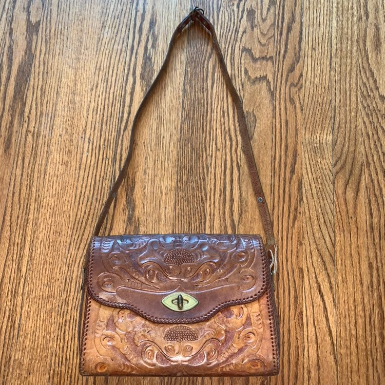 1960's Clifton's Hand Tooled Satchel