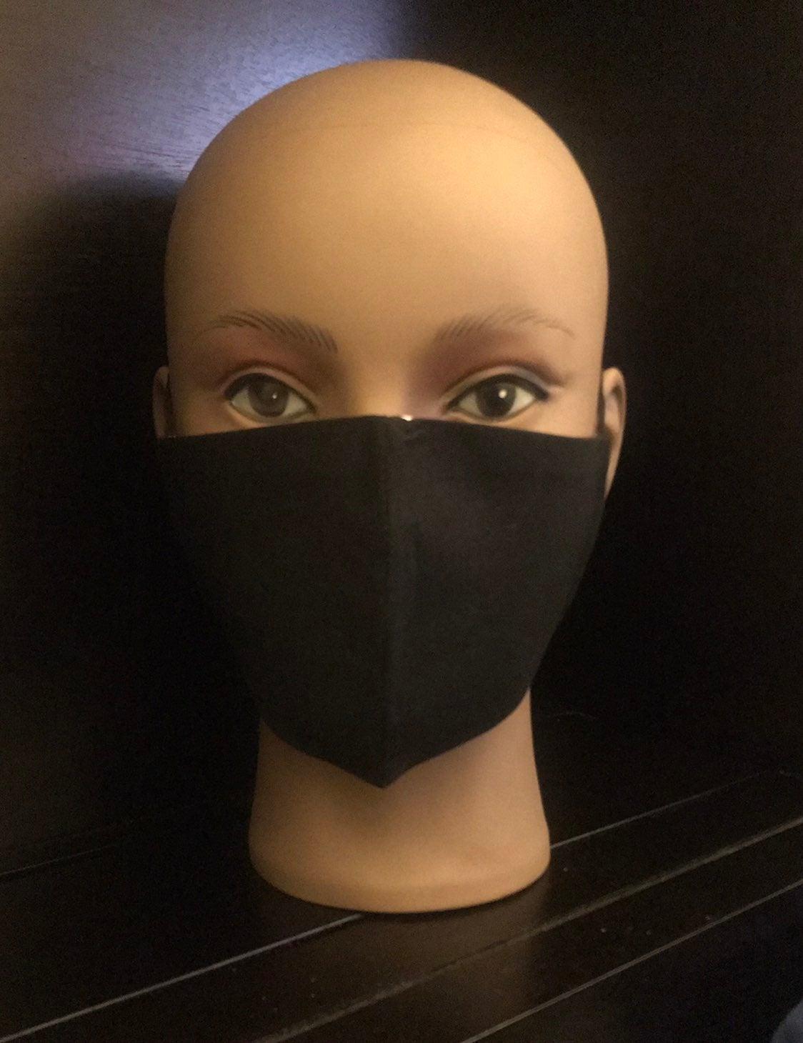 black face mask w/ a beautiful message i