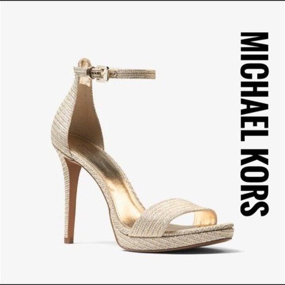 MICHAEL KORS Hutton Chain-Mesh Sandal✨new