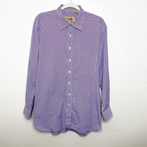 Paul Stuart Mens Pinstripe Dress Shirt