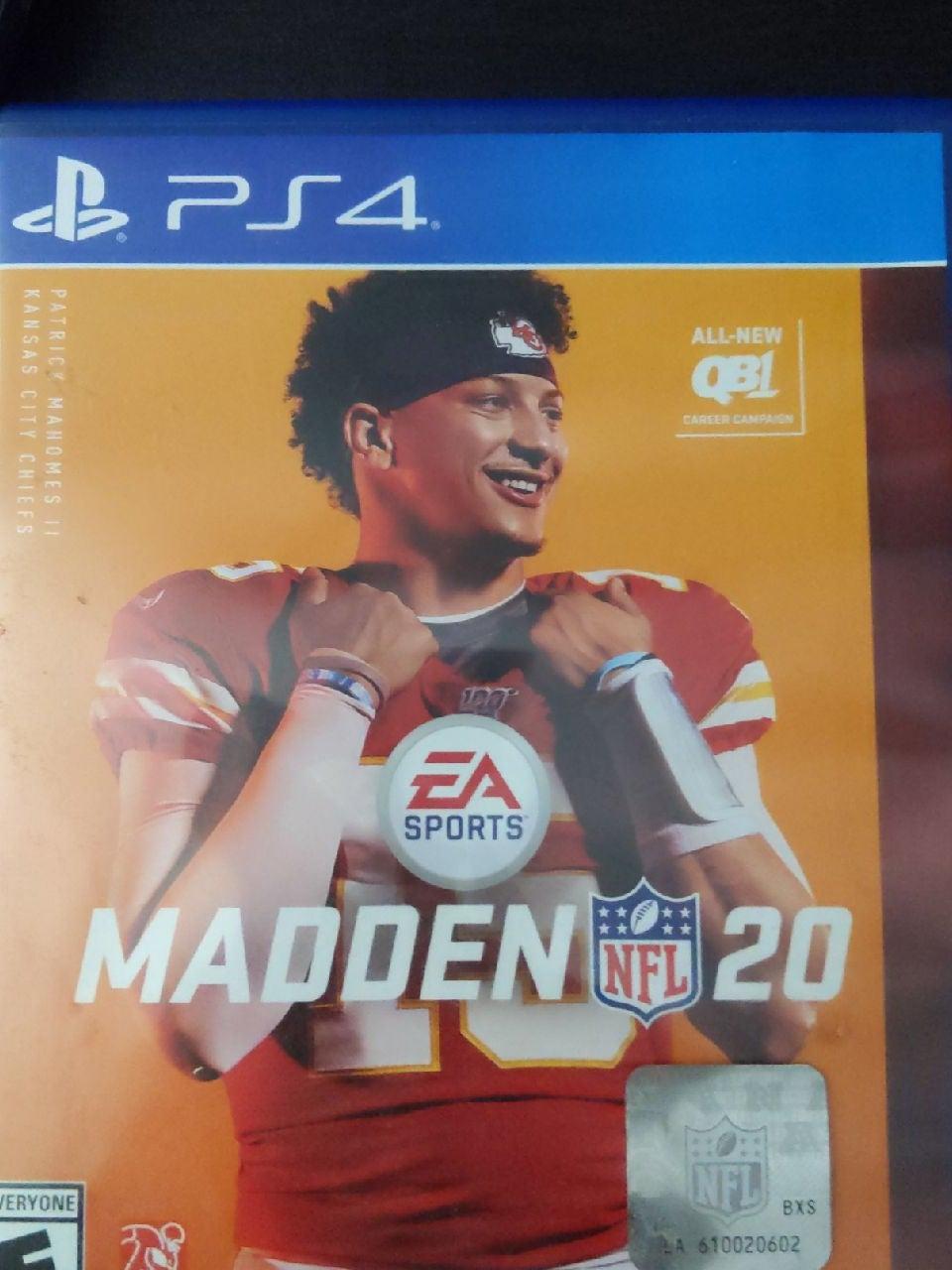 Madden 20 PS4 PlayStation 4