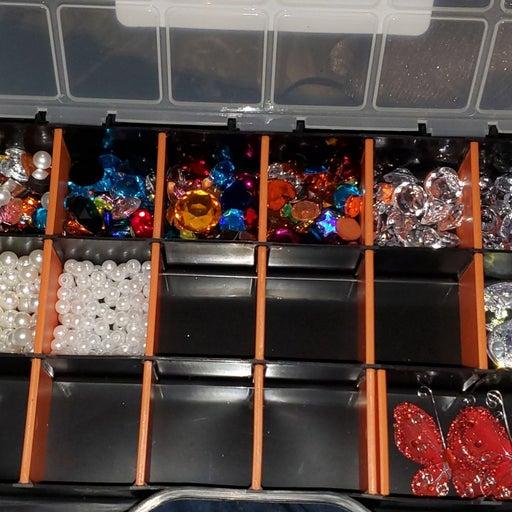 Craft Dazzle Gems Pearls Diamonds & Box